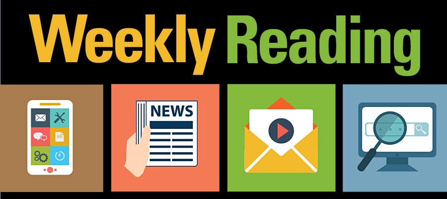 Multi colored Weekly Reading logo