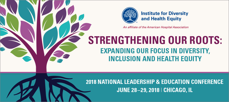 Institute for Diversity and Health Equity National Leadership & Education Conference banner