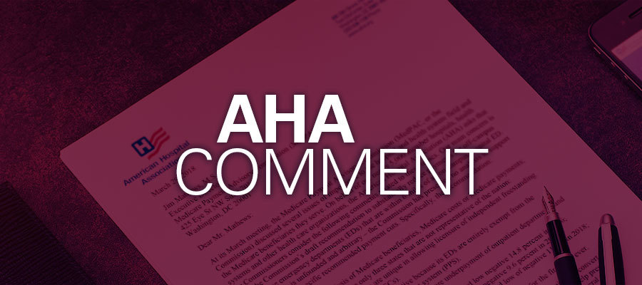 AHA proposed rule comment