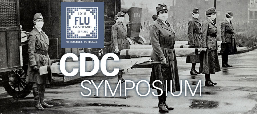 black and white image of historic flu pandemic