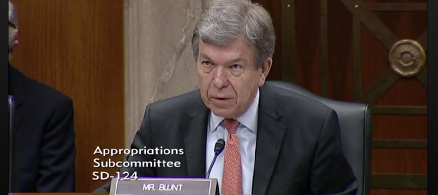 Image of Roy Blunt at Appropriations Subcommittee