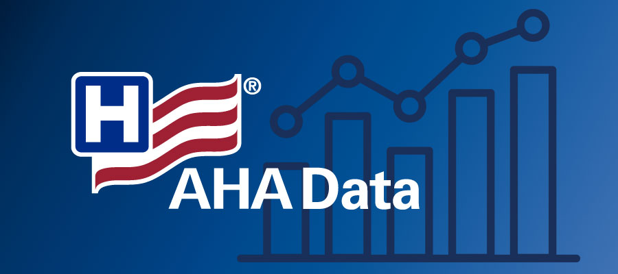 "AHA logo with white text that says ""AHA Data"""