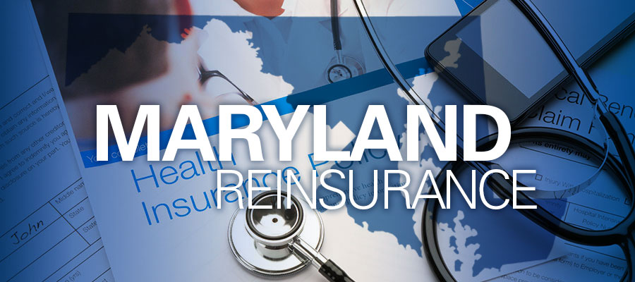 "image of health insurance policy with stethoscope on it and the words ""Maryland Reinsurance"""