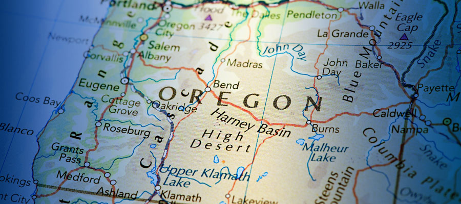 Map of Oregon, Oregon hospital charity spending