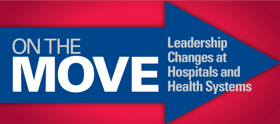 "on the move logo: red background with blue arrow that says ""On the Move"" - BJC Healthcare names Mark Shen president of St. Louis Children's Hospital"