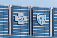 Blue Cross and Blue Shield of Texas logos on building