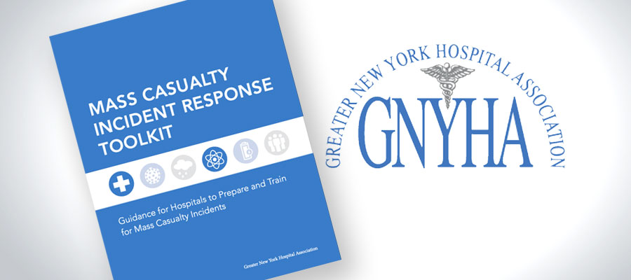 Greater New York Hospital Association logo next to image Mass Casualty Incident Response Toolkit pamphlet