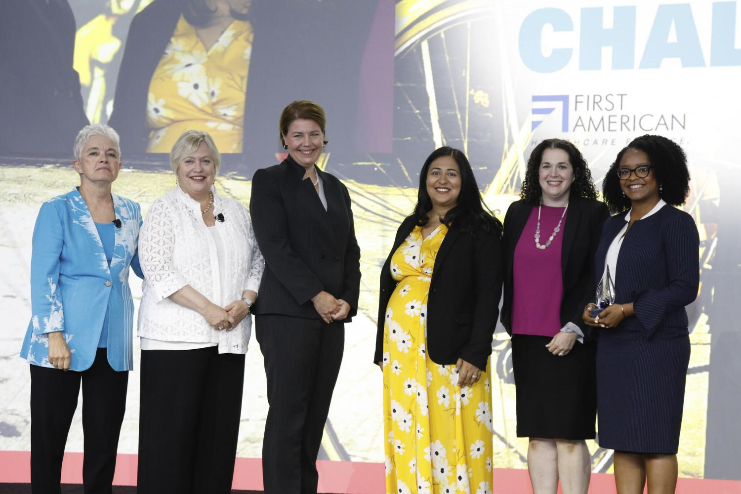 Innovation Challenge award recipients 2019, onstage at AHA Leadership Summit