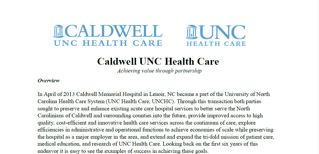 Caldwell UNC Health Care Feature Image