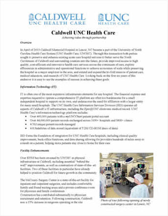 Caldwell UNC Health Care Image