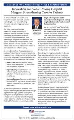 Charles River Associates Report: Hospital Merger Benefits | AHA
