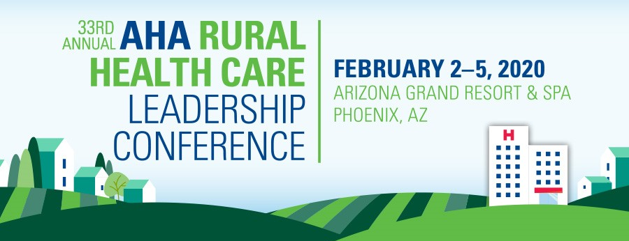AHA Rural Health Care Leadership Conference 2020 Banner