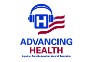 AHA Market Scan What's Trending in Digital Health? There's a Podcast for That. Advancing Health podcast logo.