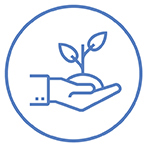 CHNAFinder community support icon - plant in hand
