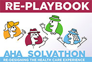 AHA Market Scan New AHA Tool Helps Frame Problem Solving for Big Challenges AHA Solvathon Re-Playbook banner. Re-designing the Health Care Experience.