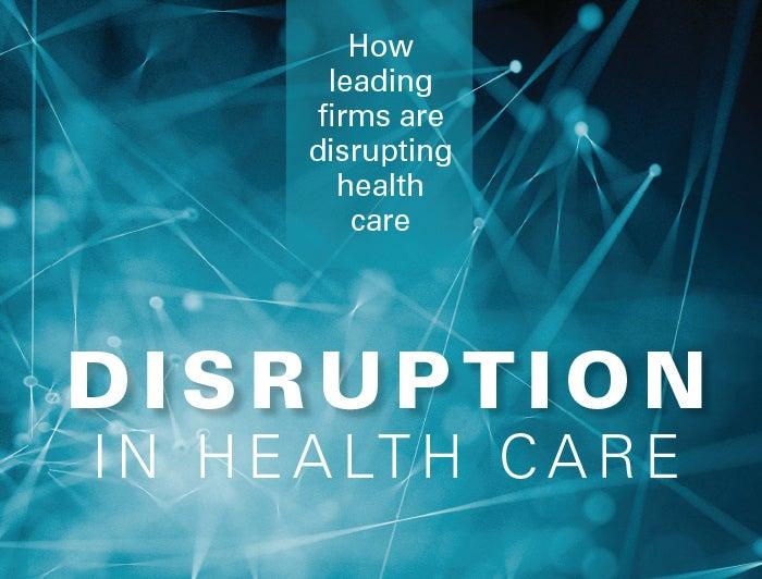 disruption in health care report cover