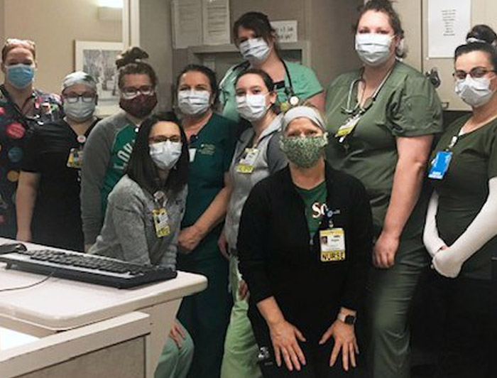 Nurses together with masks on - COVID-19