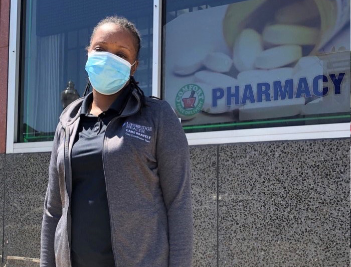 lifebridge health care worker in mask