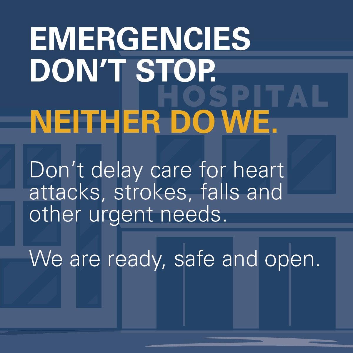 AHA covid19 toolkit emergencies dont stop FB