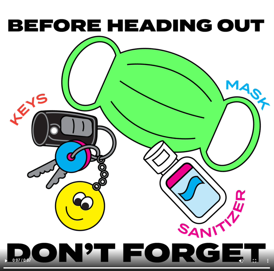 R Paid Post 2 -Before you head out, dont forget: Mask, keys, sanitizer