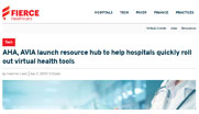 Hospitals face immediate challenges to stand up virtual approaches to address the COVID outbreak. The American Hospital Association developed a resource hub to help hospitals scale up quickly.