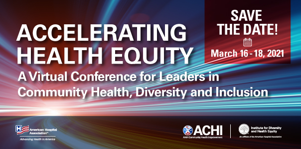 Save the date 2020 - Accelerating Health Equity