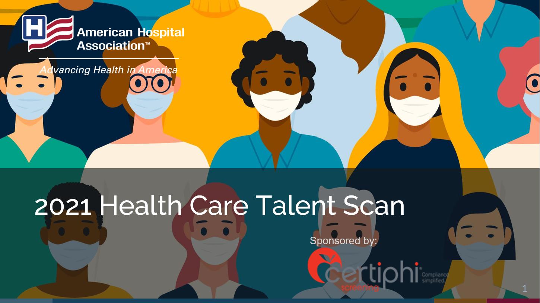 2021 Health Care Talent Scan slide