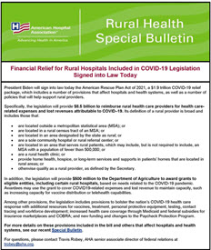 Rural Health Special Bulletin; March 11, 2021
