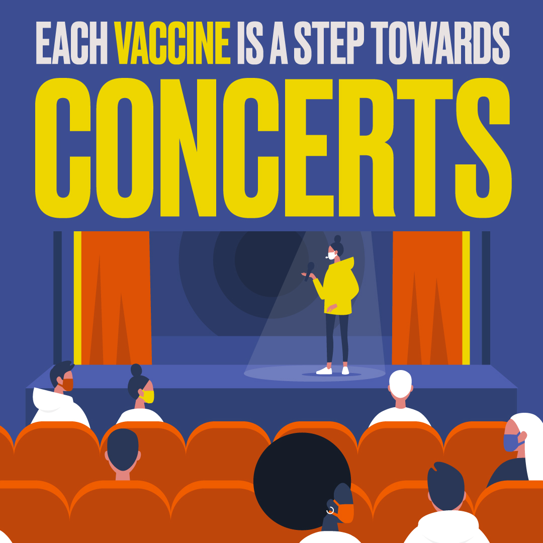 Each Vaccine is a Step Towards Concerts