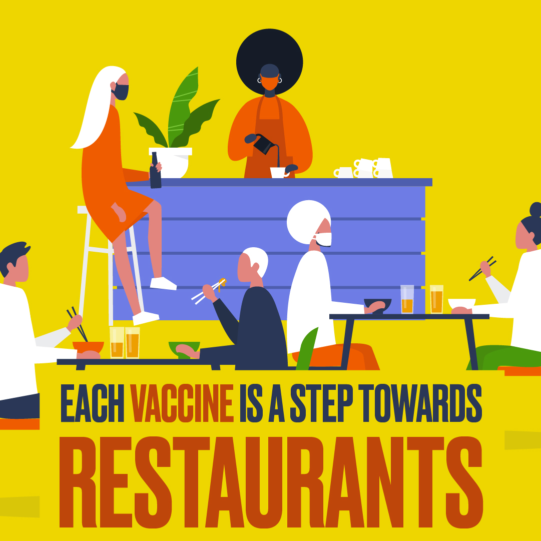 Each Vaccine is a  Step Towards Restaurants