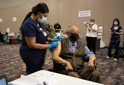 Elderly man gets shot