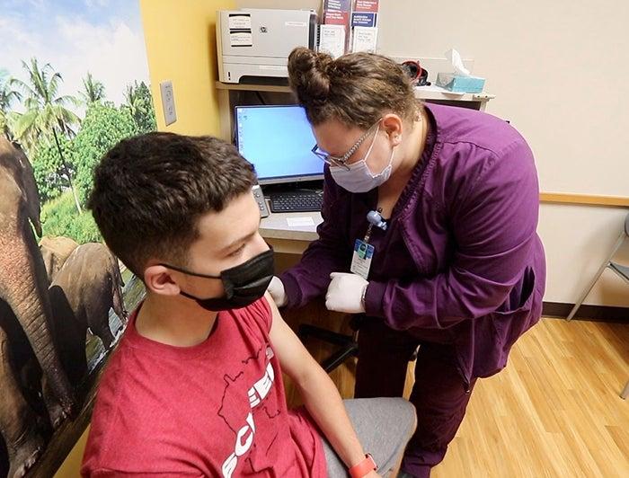 patient gets vaccine