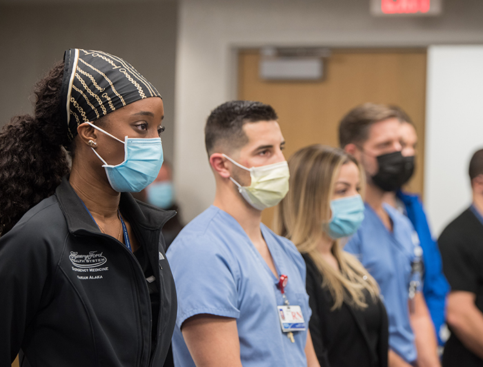 Henry Ford staff wearing PPE