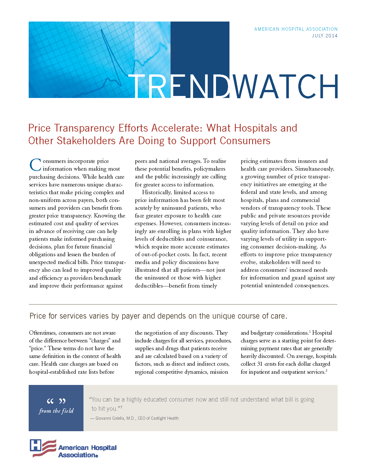 Download Price Transparency Efforts Accelerate: What Hospitals and Other Stakeholders Are Doing to Support Consumers PDF