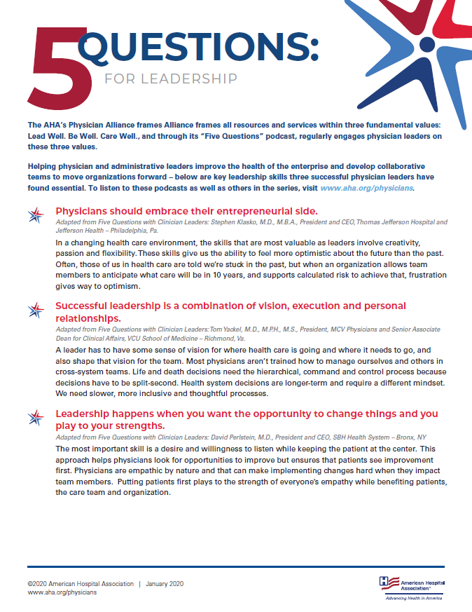 Five Questions for Leadership