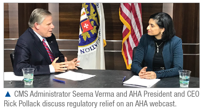Regulatory Relief Rick Pollack Seema Verma