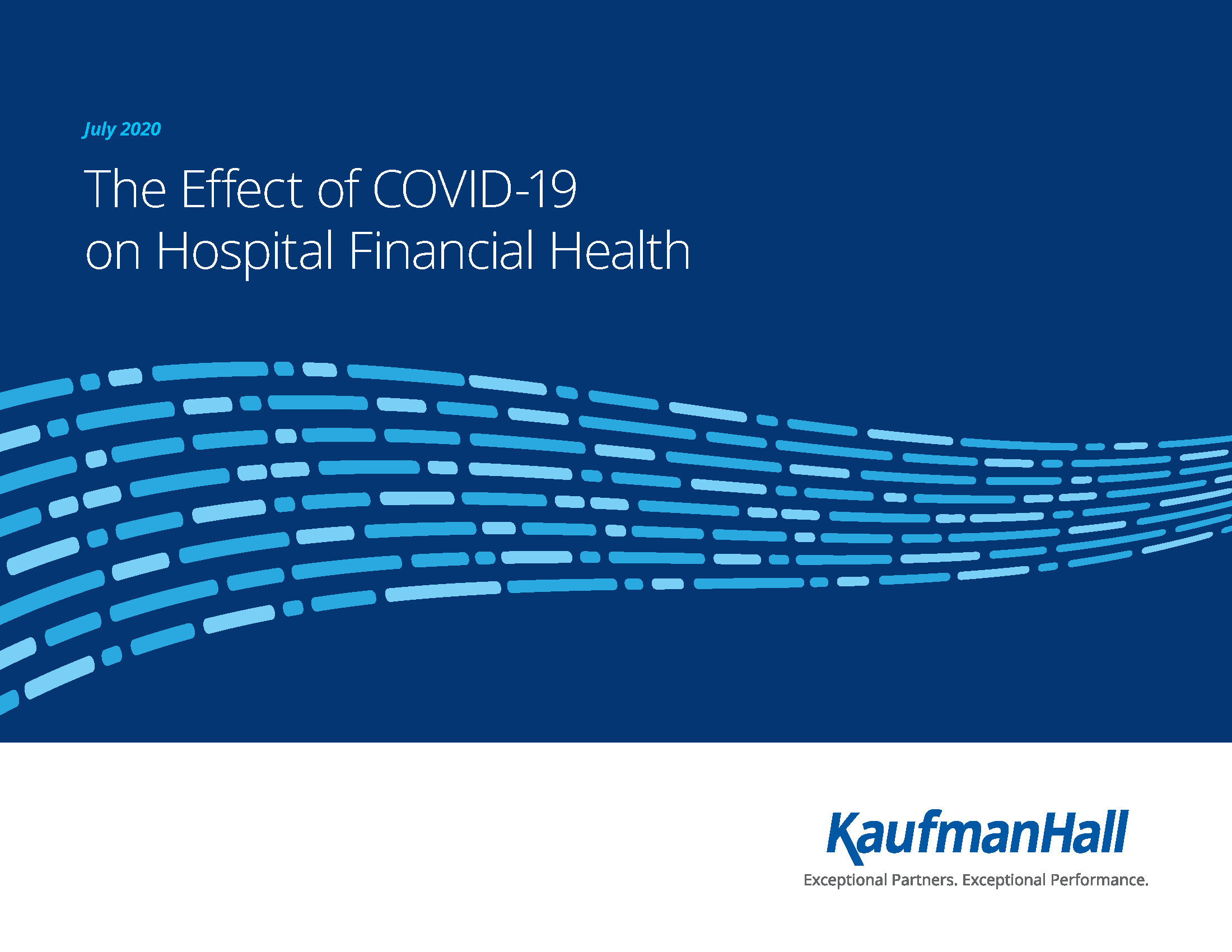 "Page 1 of KaufmanHall report ""The Effect of COVID-19 on Hospital Financial Health"""
