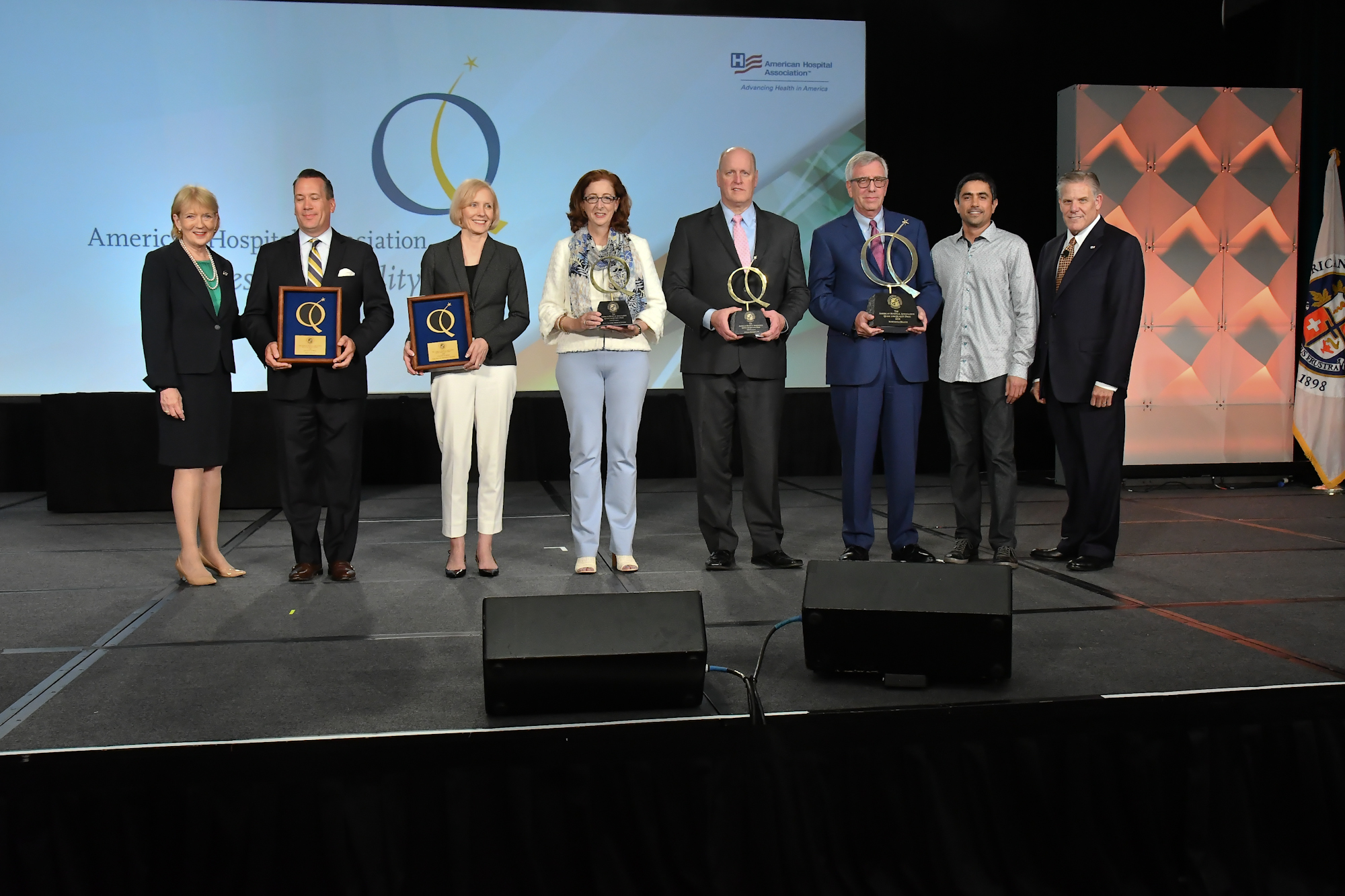 AHA Quest for Quality Award Honorees at 2018 AHA Leadership Summit