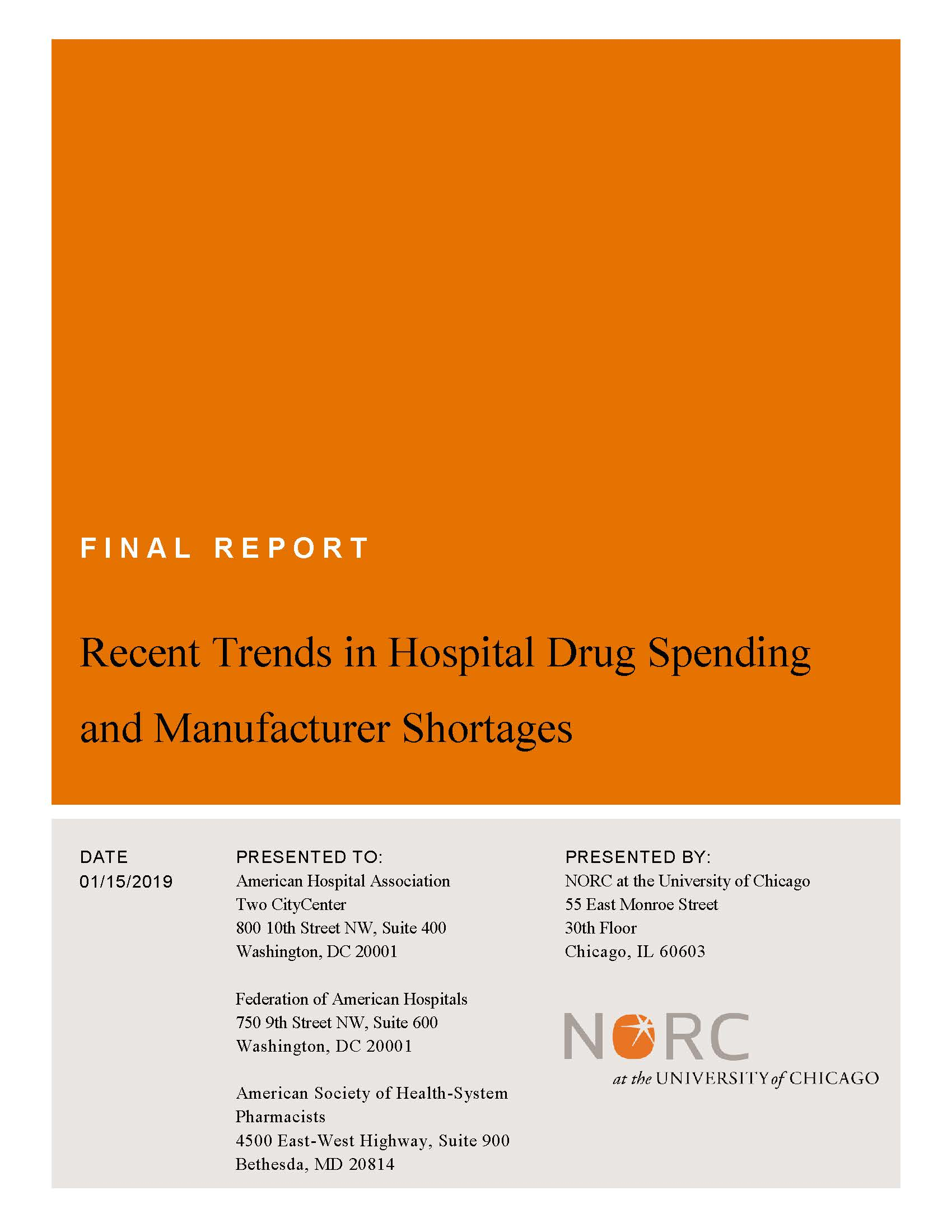 Recent Trends in Hospital Drug Spending and Manufacturer