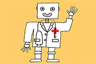 AI in Health Care by the Number robot doctor image