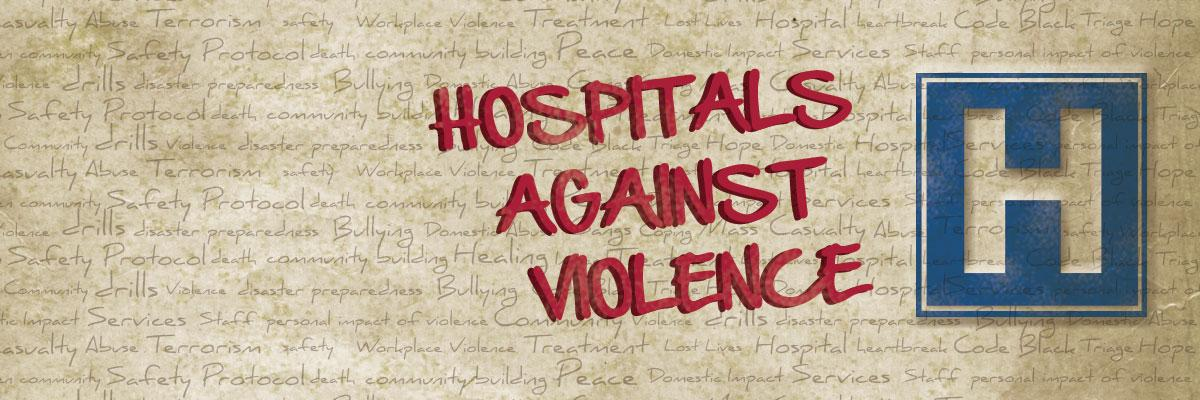 Hospitals Against Violence. Blue H hospital icon.