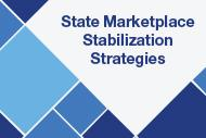 state marketplace stabilization strategies text on patterned background