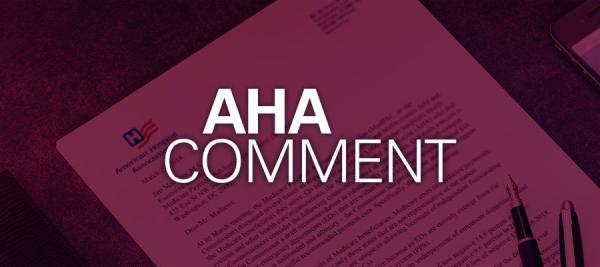 "red background showing piece of paper with white text that says ""AHA Comment"""