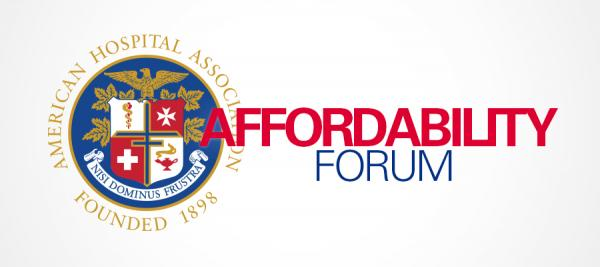 "AHA logo next to the words ""Affordability Forum"""
