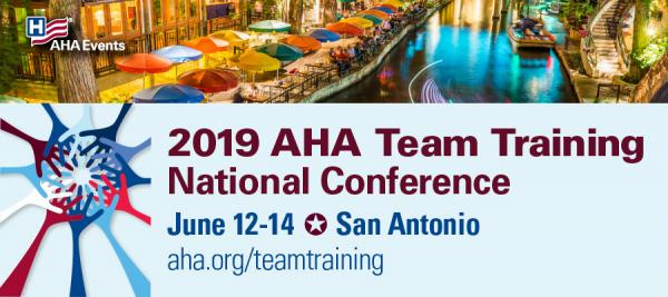 2019 AHA Team Training National Conference banner